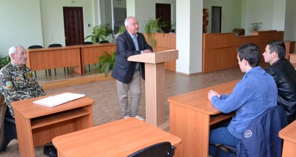 В Уманському НУС відбулась зустріч з ліквідатором аварії на ЧАЕС